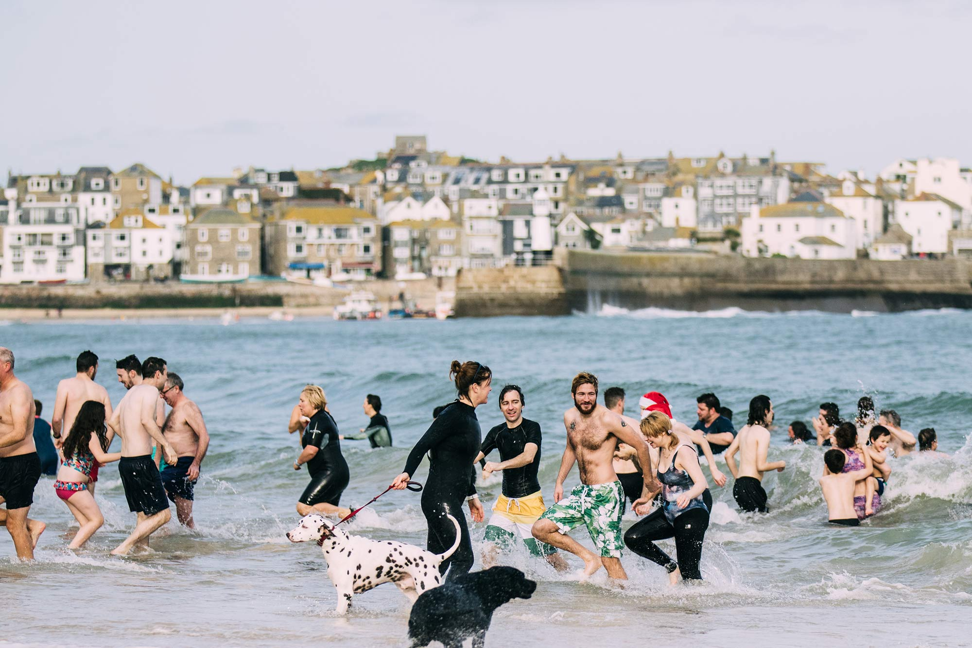 St Ives in December activities boxing day dip Nick Pumphry