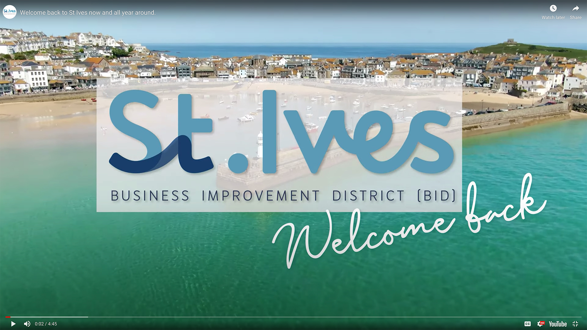 Welcome Back to St Ives with local businesses