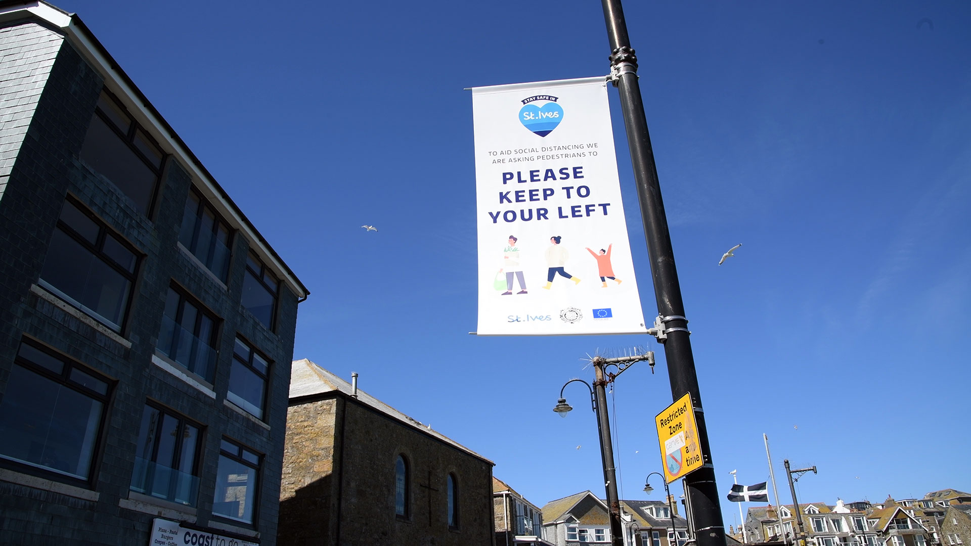 StIves BID COVID signage and round up