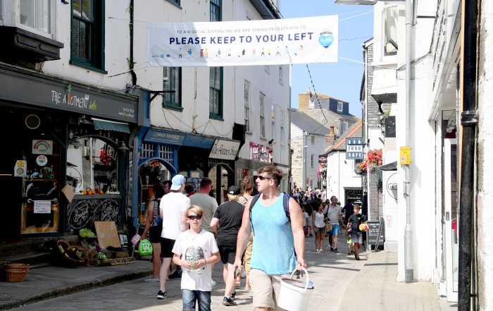 StIves BID COVID signage and round up