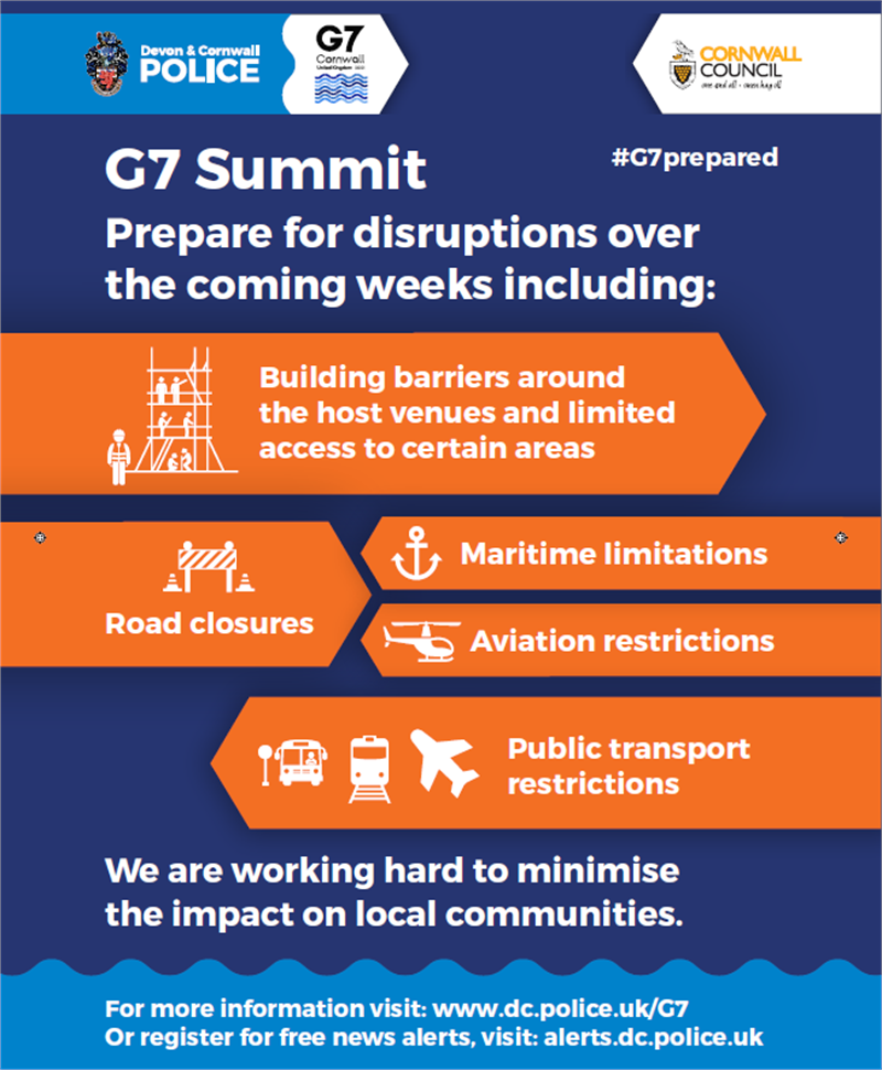 G7 And Cornwall Council info flyer